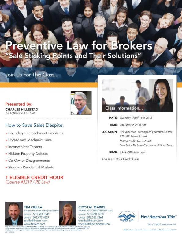 Preventive Law for Brokers  27431_front
