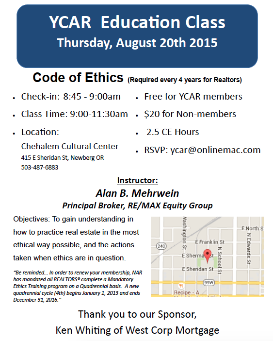 YCAR Code of Ethics Class